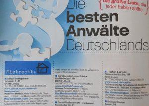 Rechtsanwalt Daniel Baumgärtner unter beste Anwälte im Mietrecht